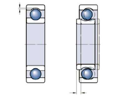 فاصله داخلی محوری بیرینگ ها